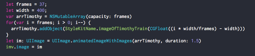 swift paintcode uiimageview array